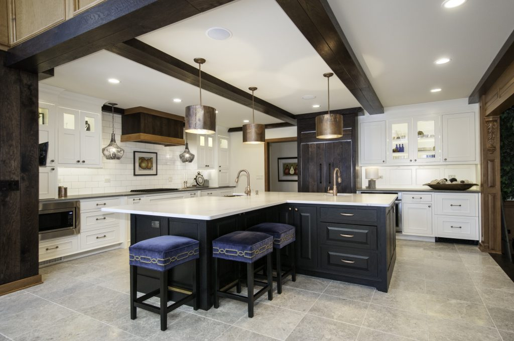 Palatial St. Charles, IL Kitchen designed and built by Kane Home Cabinetry and Design.