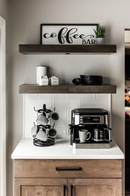 Kitchen coffee bar by Kane Home Cabinetry in St. Charles, IL